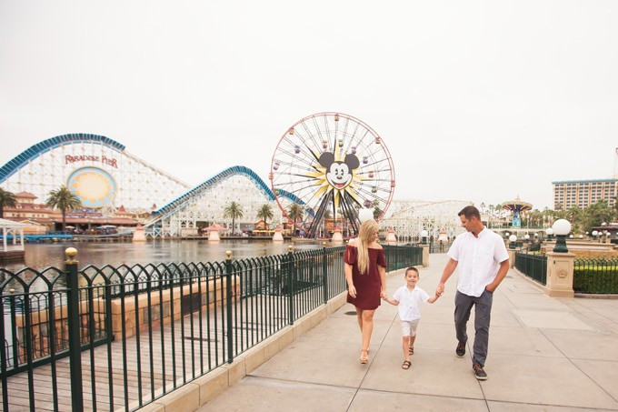 Family Photos at Disneyland California Adventure Park