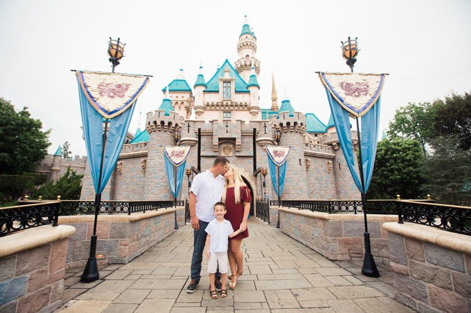 The perfect Disneyland Castle Photo for family photos