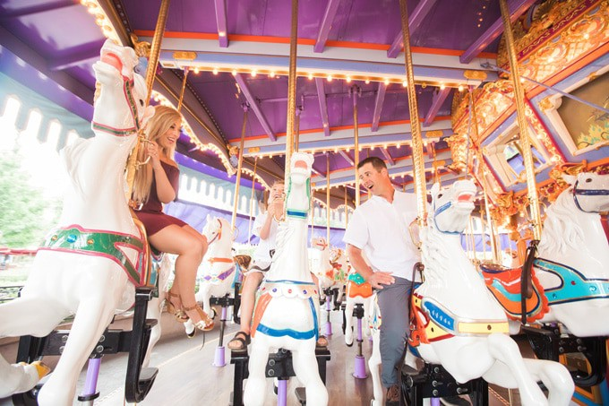 Disneyland Photography - family session on the carousel in Fantasyland.