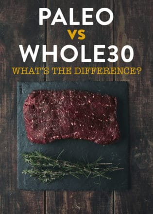 Paleo VS Whole30 what's the difference? If you're looking for help with clean eating and looking at Whole 30 or the paleo diet read this!