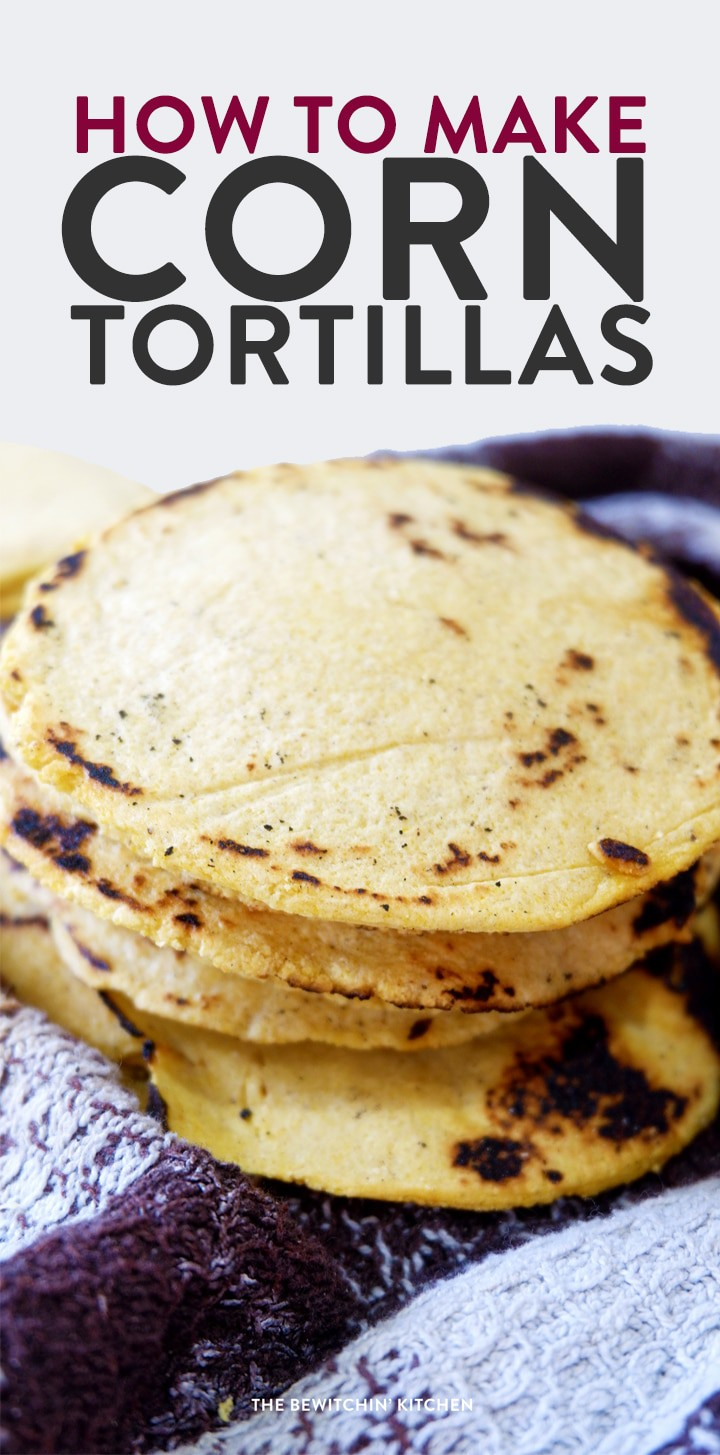 How to make corn tortillas. These easy to make gluten free tortillas are just three ingredients: masa harina, salt, and water. They're so easy, you'll never buy taco shells again!