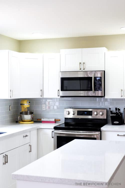 This All White Kitchen Was The Result Of A Diy Renovation Using Home Depot S