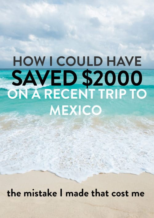 I'll never book travel with Uniglobe again. See how much money I saved by canceling and rebooking a recent trip to Mexico.