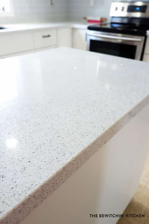 Price quartz countertops i survived my diy kitchen for Stellar night quartz price