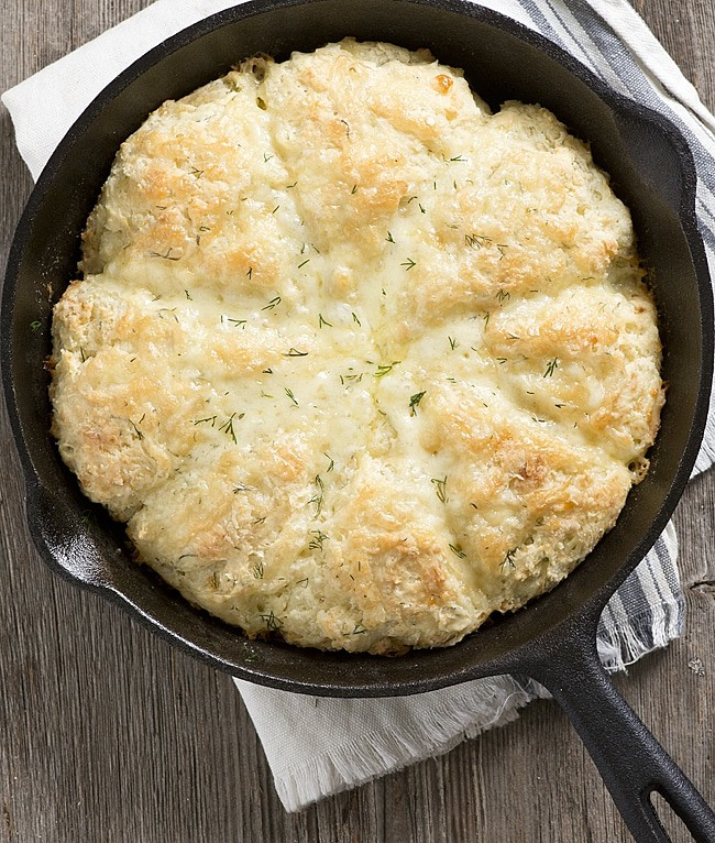Skillet Dill and Cheddar Buttermilk Scones