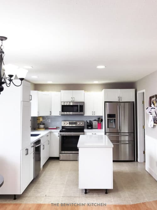 Amazing This All White Kitchen Was The Result Of A DIY Kitchen Renovation. Using  Home Depotu0027s