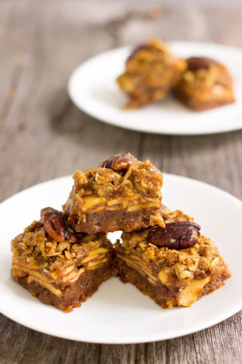 Caramel apple pie bars - gluten free and dairy free