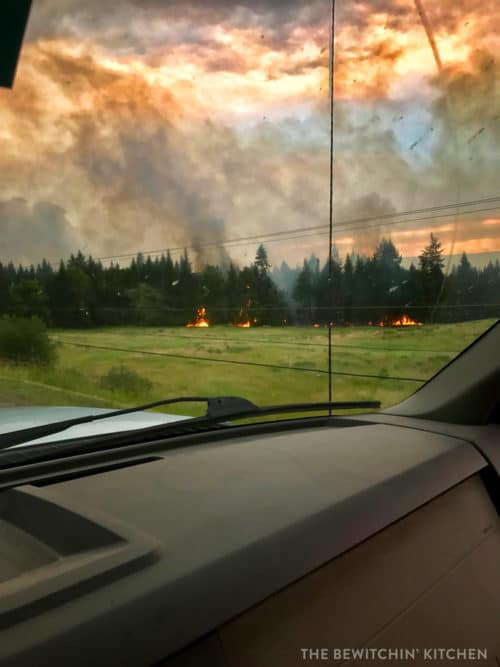 BC Wildfire outside Williams Lake