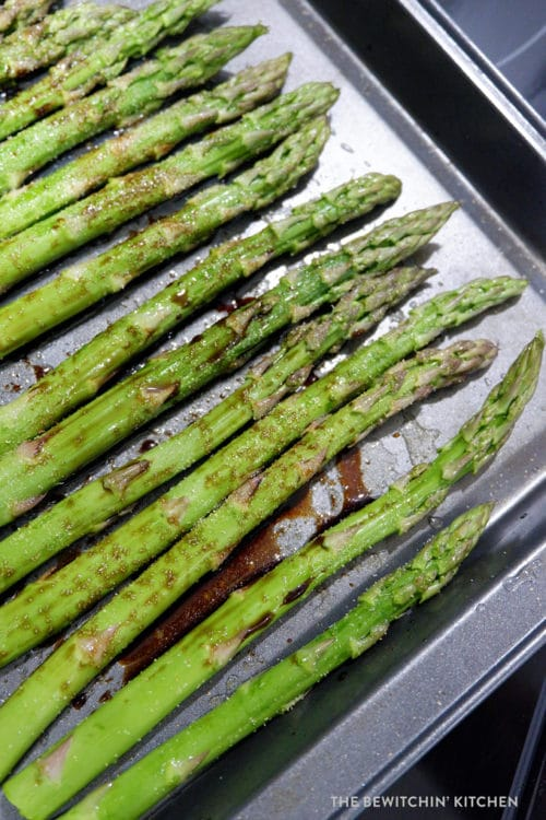 Healthy recipe for oven roasted asparagus