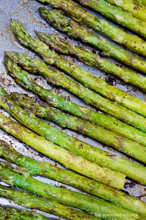 Roasted Balsamic Asparagus, a healthy dinner side dish.