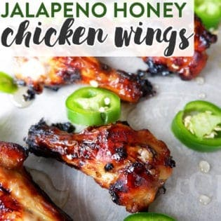 Jalapeno Honey Chicken Wings - These appetizers are perfect for game day or just hanging out on the choice. Honey, jalapeno, make a sweet and spicy chicken wing.