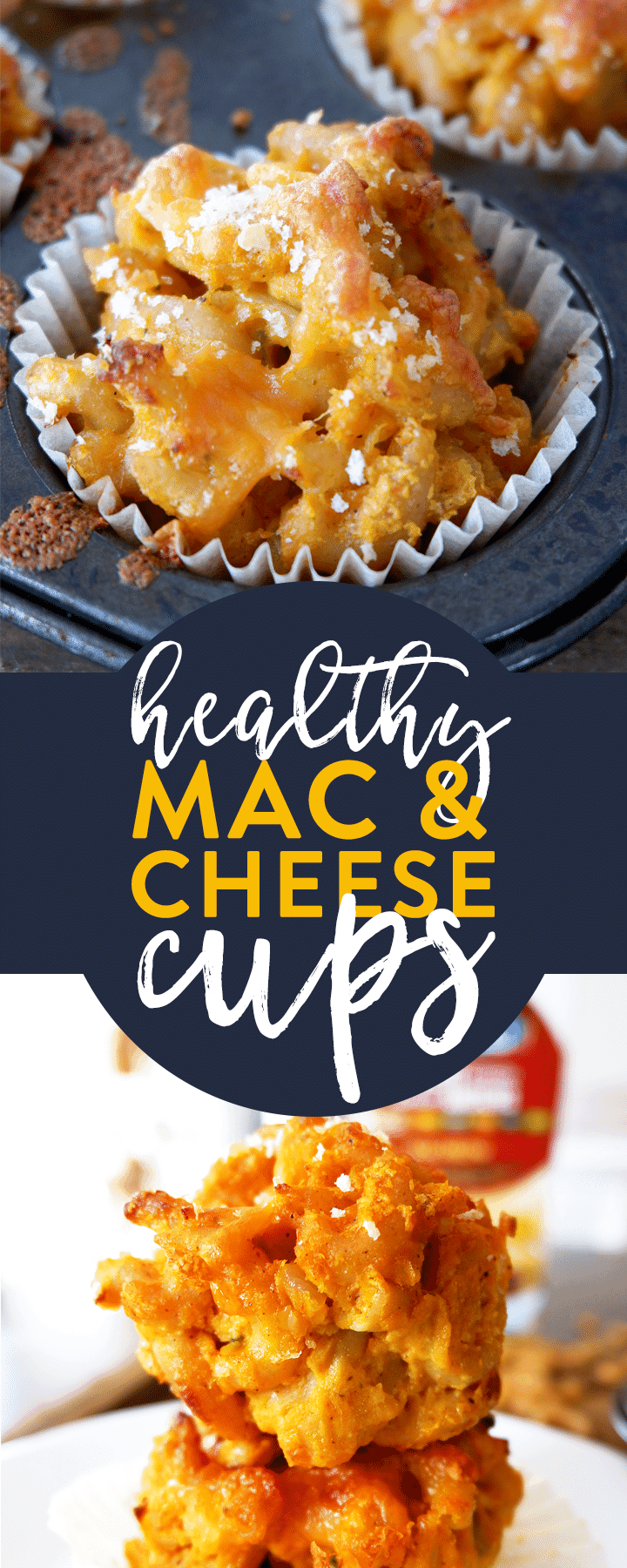 Healthy mac and cheese cups recipe made with a veggie cheese sauce with cauliflower, carrots, and red pepper. Whether you call them macaroni and cheese cups or mac and cheese muffins, you need to add this to your healthy dinner recipes board.