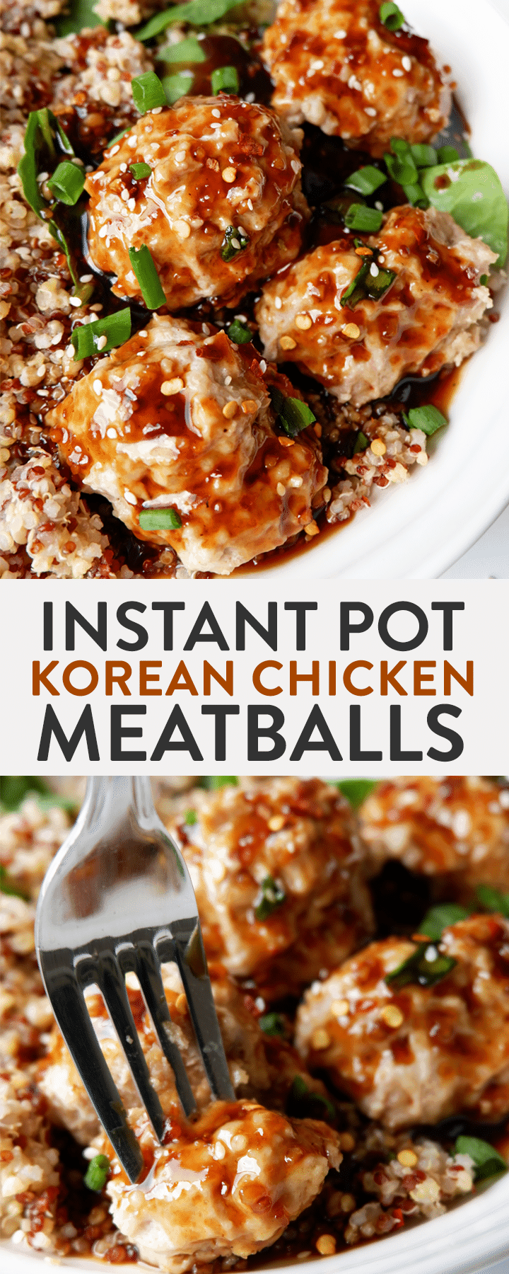 Instant pot korean chicken meatballs the bewitchin kitchen instant pot korean chicken meatballs this korean bbq meatballs recipe is lightened up with ground forumfinder Image collections