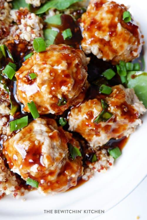 Instant Pot Korean Chicken Meatballs recipe