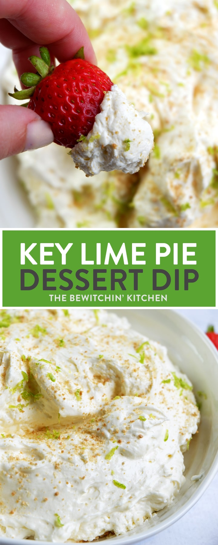 Key Lime Pie Dip - this dessert dip is amazing. It blends a creamy cheesecake dip with key lime pie for a fruit dip recipe that your guests will love.