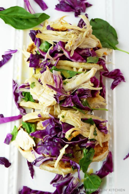Pulled chicken tacos - a healthy and easy recipe to make for summer.