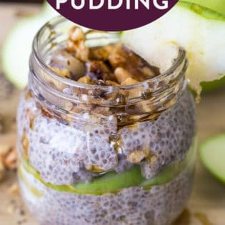 Apple Pie Chia Seed Pudding - this nutritious breakfast has apples, cinnamon, chia seeds, and more. It's high in fiber and makes a yummy snack or healthy breakfast recipe.