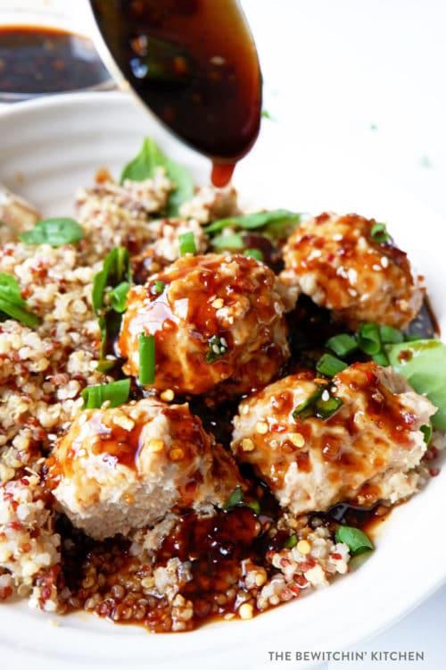 Korean Chicken Meatballs made in the pressure cooker, Instant Pot