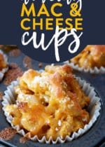 Healthy mac and cheese cups made with a cheese sauce loaded with hidden vegetables (perfect for picky eaters). Whether you call them macaroni and cheese cups or mac and cheese muffins, you need to add this to your dinner recipes ideas board.
