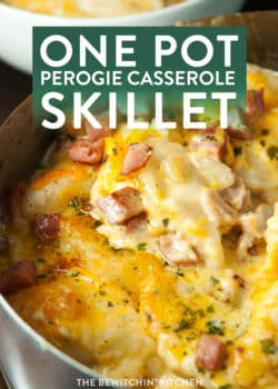 One pot perogie casserole skillet