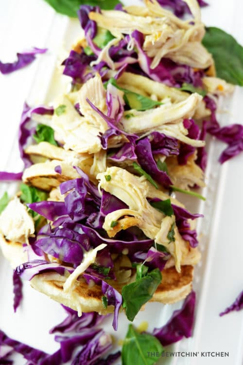 Sweet Chicken Tacos with a citrus basil sauce