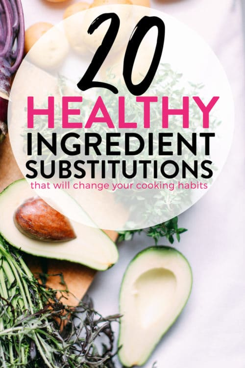 20 healthy ingredient substitutions that will change your eating habits. Ideas how to make healthy recipes and lose weight.
