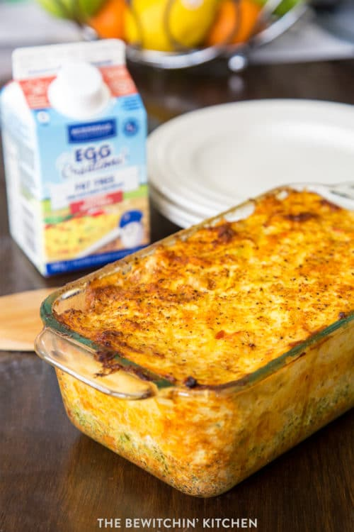 Super yummy vegetable egg bake - perfect for brunch.