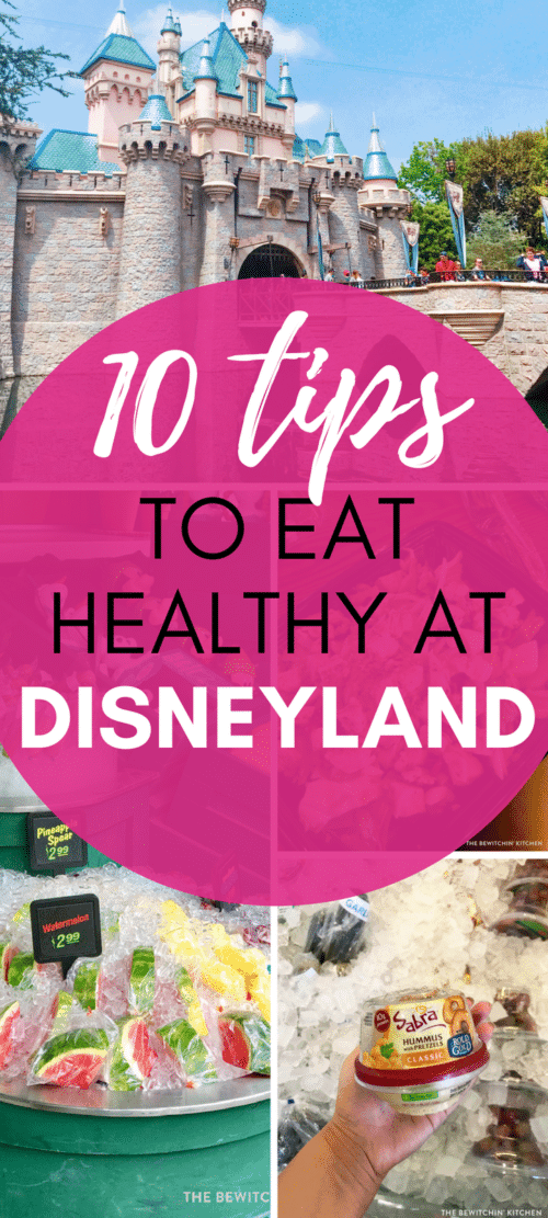 10 tips to eat healthy at Disneyland. Planning a trip to Southern California? Stay on track and make healthy choices at Disneyland in Anaheim!