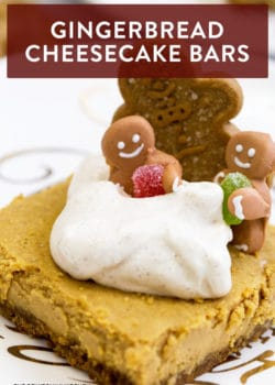 These gingerbread cheesecake bars are an easy holiday twist on a traditional cheesecake favorite. Whether you call them bars, squares, or Christmas baking - these are going to my favorite cheesecake recipes folder.