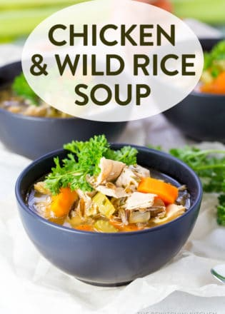 Healthy and wholesome chicken and wild rice soup. This hearty soup recipe has no dairy and is a broth based fall and winter favorite! Clean eating has never been yummier.