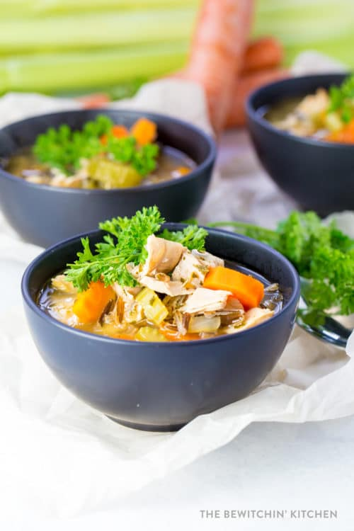 Dairy free chicken wild rice soup recipe