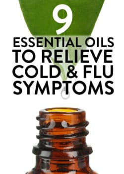 9 essential oils to relieve cold and flu symptoms. Sore throat? Cough? Insomnia? Here are some oils that will help relieve your sick symptoms!