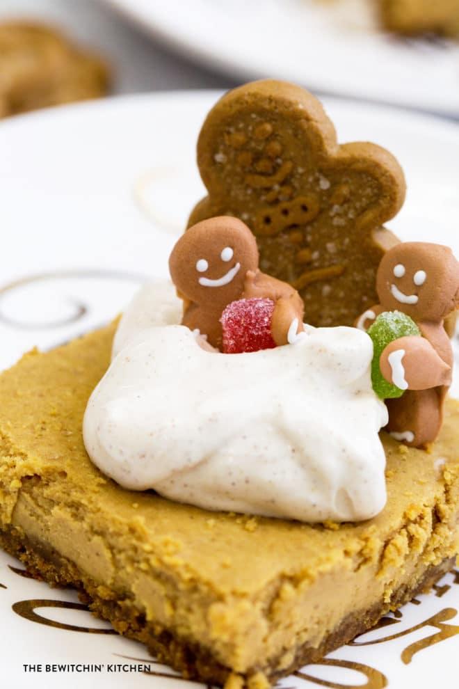 Gingerbreads Cheesecake Bars Recipe