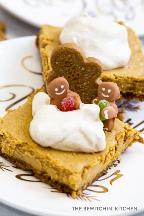 Gingerbread Cheesecake Squares