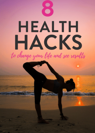 8 easy health hacks to change your life and help you see results! Start a healthier lifestyle with these tips for easy healthy living!