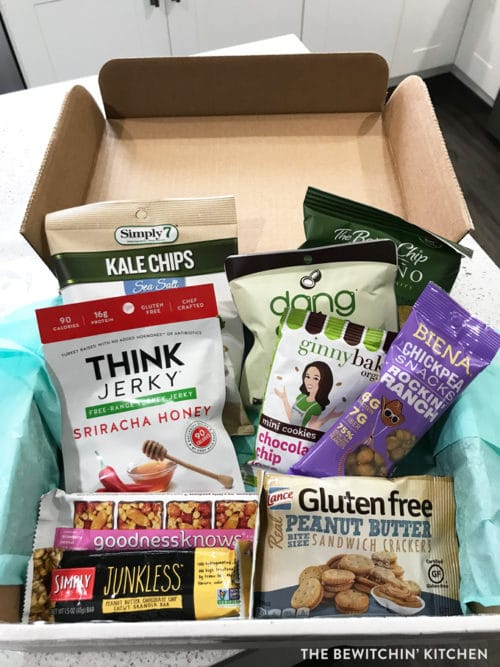 HealthyMe Living subscription box - healthy snacks delivered to your door.