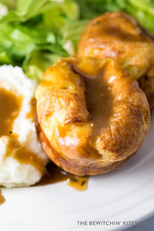 Yorkshire Puddings with Roast Beef Dinner Side Dish