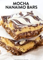 Mocha Nanaimo Bars. This simple no bake dessert recipe is a bake sale classic, but with a coffee twist. Add white chocolate marble and you're in the money my friends!