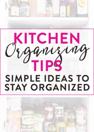 Kitchen organizing tips that are simple and make a big difference! These easy organization ideas will help you tackle the jungle of the kitchen pantry and more!