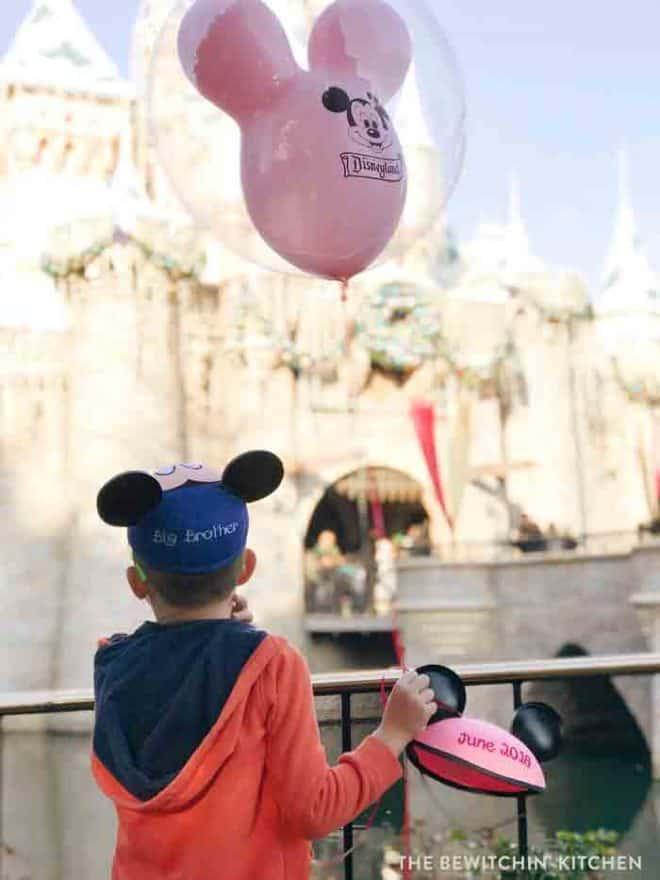 Disneyland Pregnancy Announcement. It's a girl! A fun way to announce a pregnancy at Disney and a Disney gender reveal!