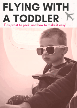 Tips for flying with a toddler! Tips, what to pack for the airplane, and how to make your life easier on your family vacation! #traveltips #flyingwithatoddler #flyingwithababy