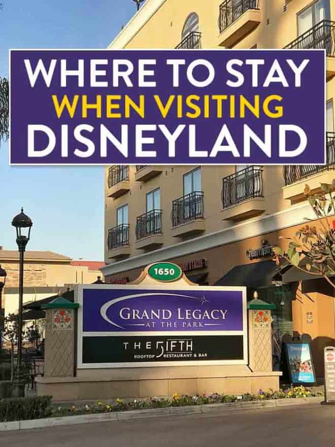 Heading to Southern California and looking for affordable hotels near Disneyland? Check out Grand Legacy at The Park! It's only a five minute walk from Disney. It's the perfect place for a family vacation in Anaheim. Add this to your Disney tips and travel advice! Where to stay near Disneyland. #ad #Disneyland #GrandLegacyatthepark #Disneyhotels #disneylandhotels