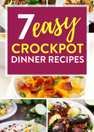 7 Easy Crockpot Dinner Recipes. These healthy slowcooker meals are simple and incredibly tasty! Add this to your busy weeknight meal plan!