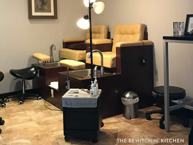 Pedicure chairs at Reflections Spa at Lake Buena Vista Resort Village and Spa