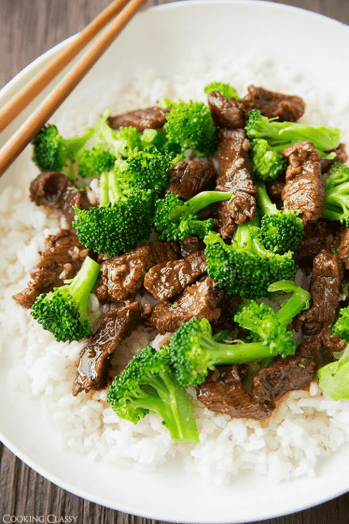 Slow Cooker Beef and Broccoli from Cooking Classy