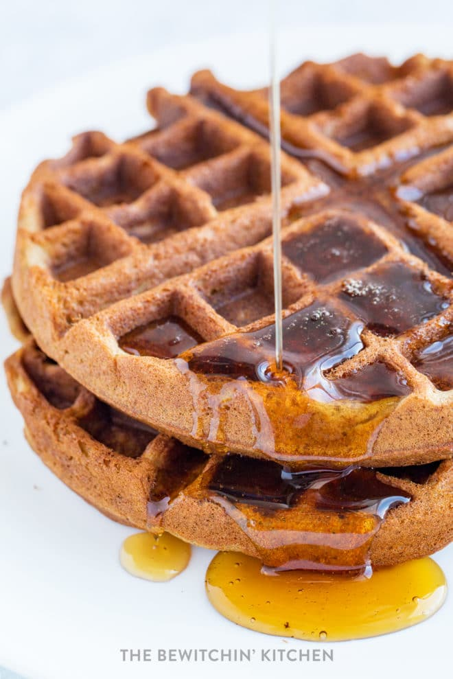 Maple syrup on allergy free waffles