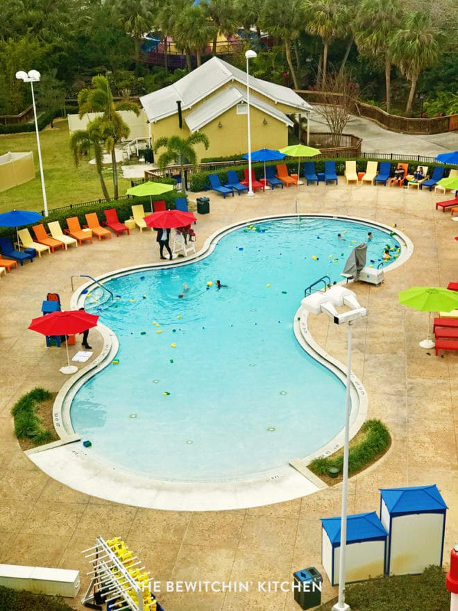 The pool at the Legoland Hotel in Florida