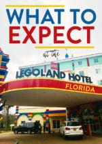 Front entrance of the legoland hotel in florida