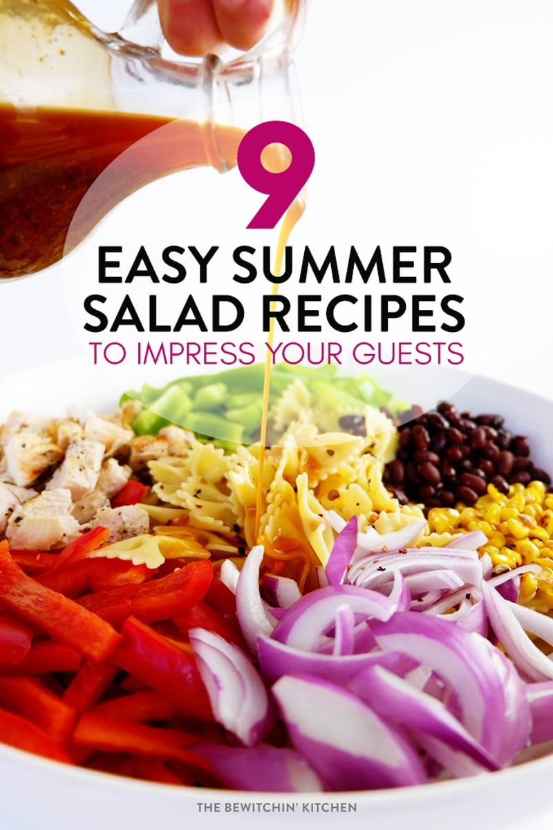 9 easy summer salads perfect for your bbq the bewitchin for Easy salad ideas for bbq