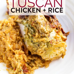Instant Pot Tuscan Chicken and Rice Bake